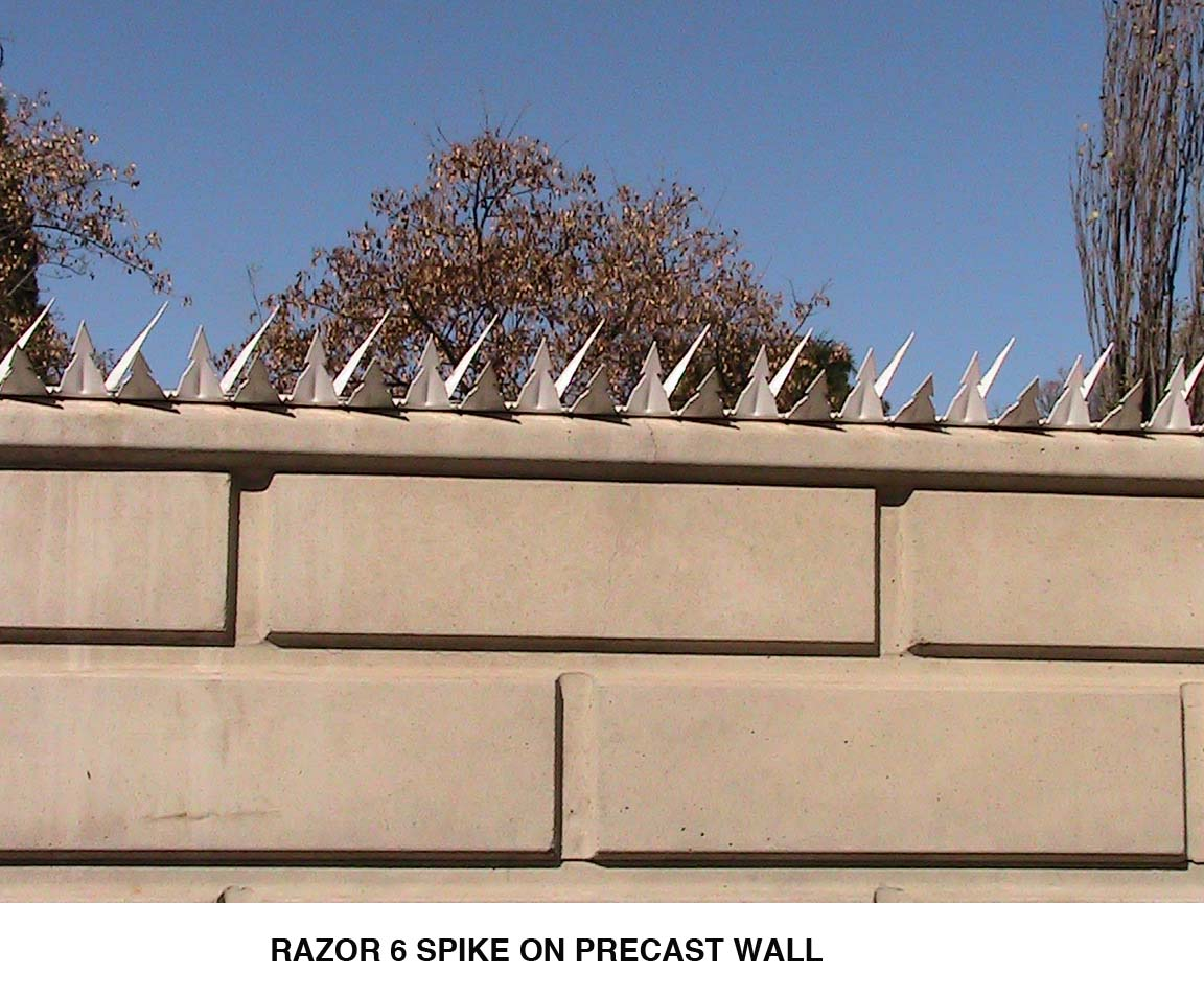 Razorspike 6 Perimeter Security Aggressive Wall Spikes
