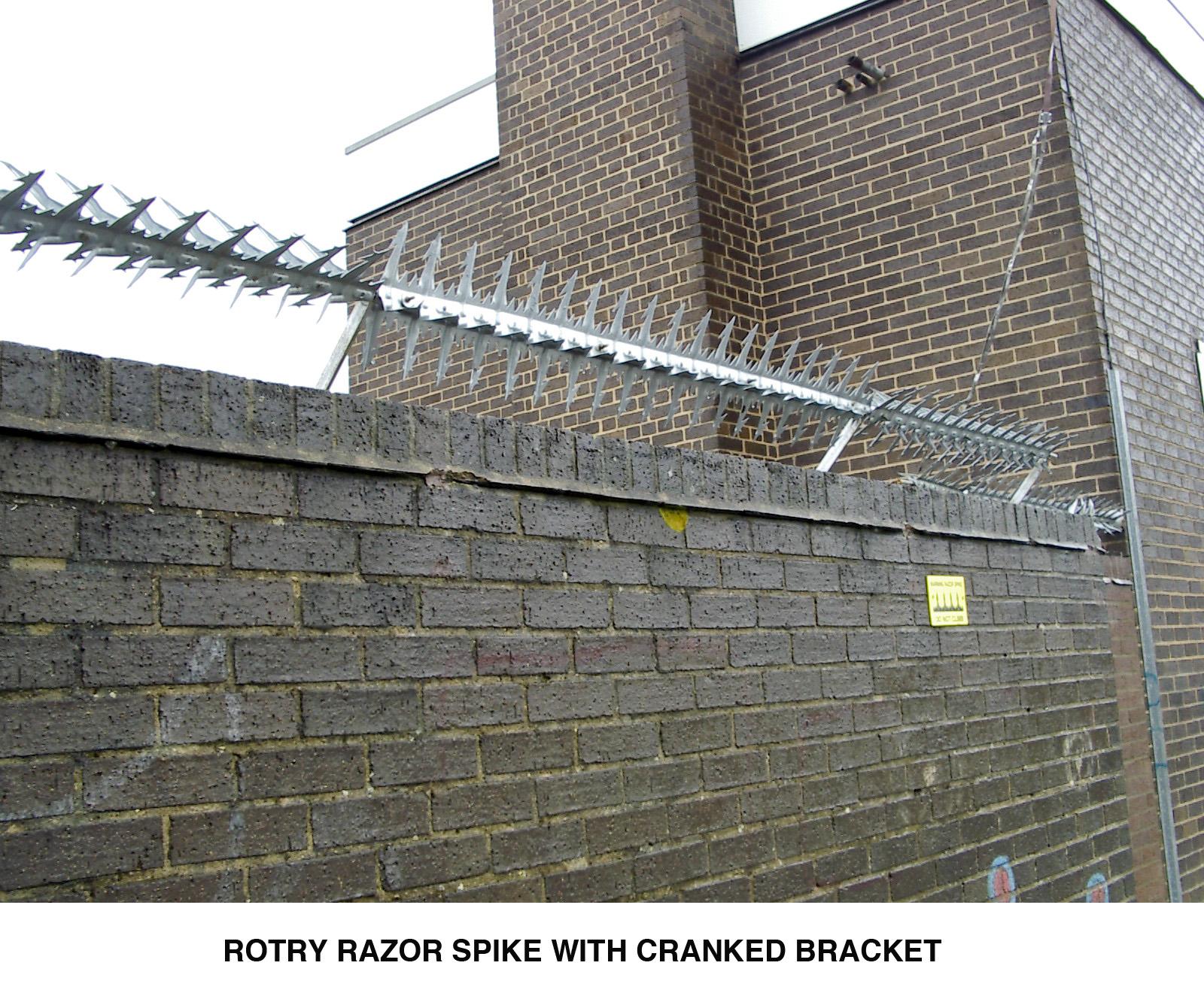 Rotry Razor Spikes Are Rotating Anti Climb Wall Spikes
